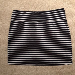 Aritzia TNA Striped Jersey Mini Skirt
